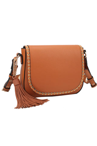 Front Flap Snap Purse - Brown
