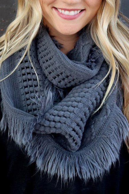 You Warm The World Scarf - Grey