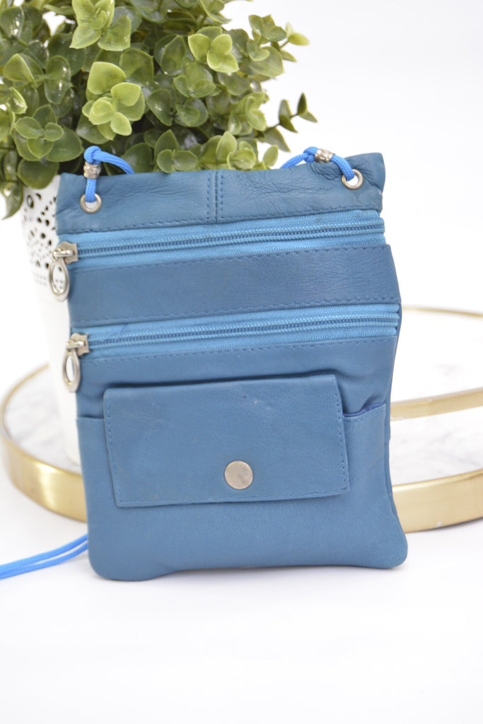 Teeny Travel Satchel Vertical - Turquoise