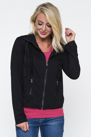 Downeast Ruffle Jacket Black