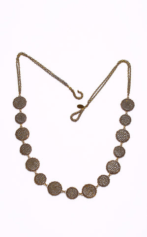 Dream Collective Brass Braille Disc Necklace