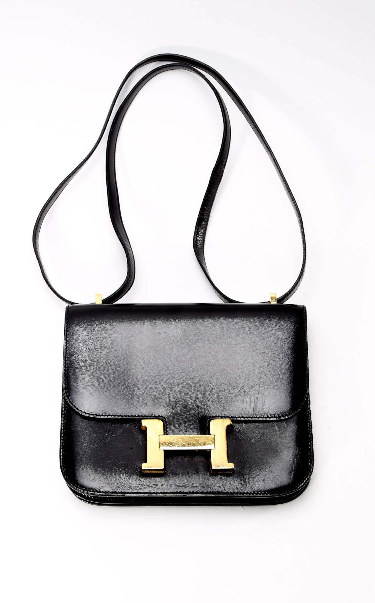 Hermes Constance Leather Mini Handbag