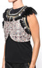 Isabel Marant Jano Feather Rhinestone Vest