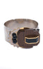 Marni Silver Tone Wood and Enamel Bracelet