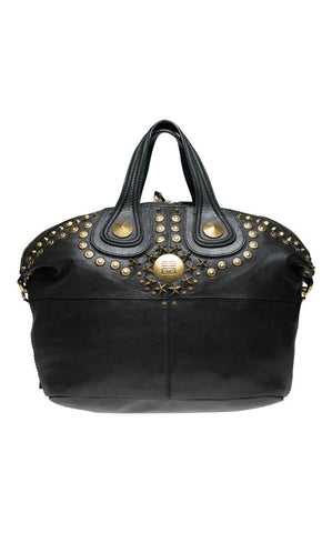 Givenchy Nightingale Leather and Gold Studded Tote