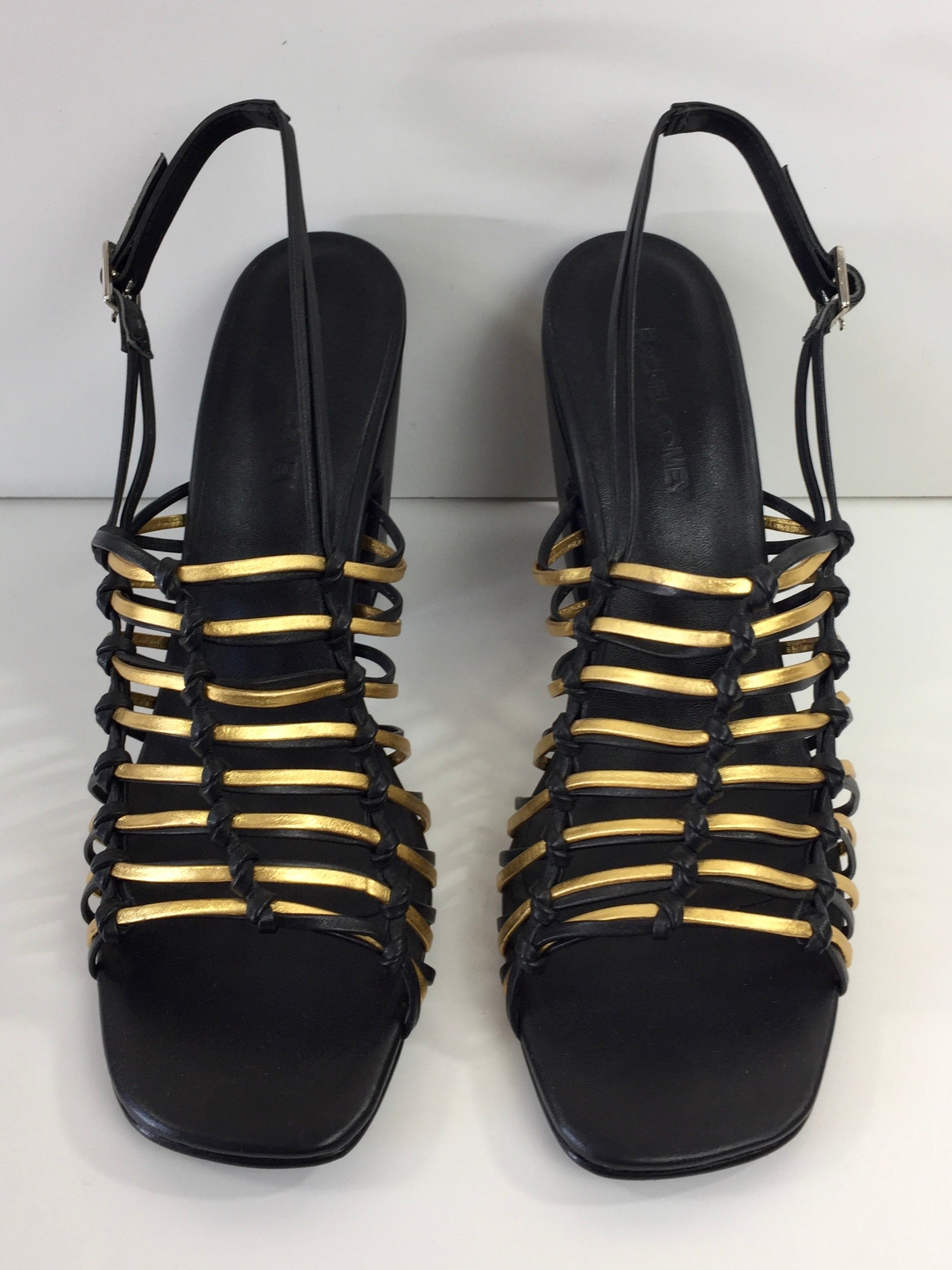 Black and Gold Knot Sandal