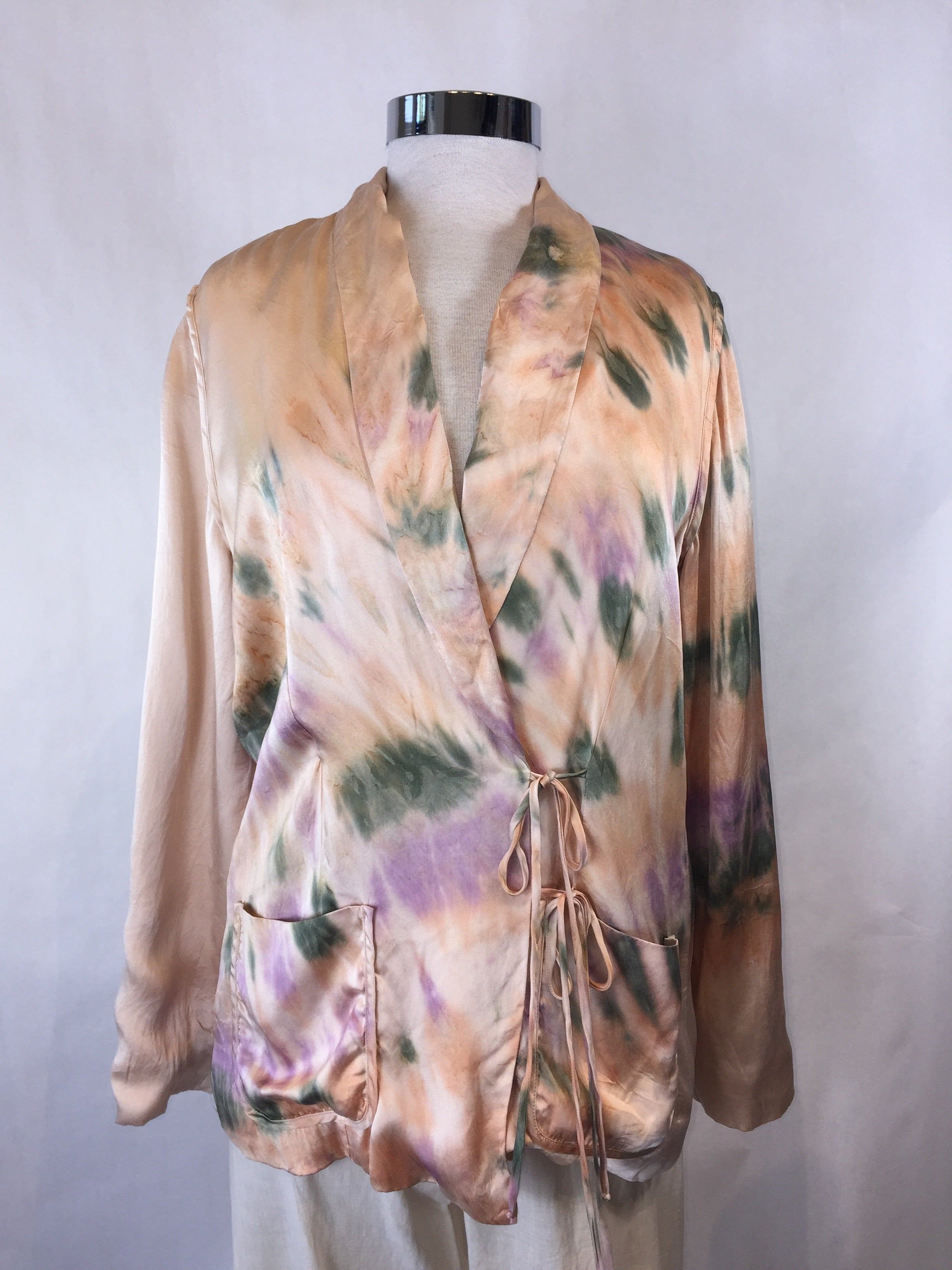 50% OFF - Silk Tie-Dye Wrap Jacket