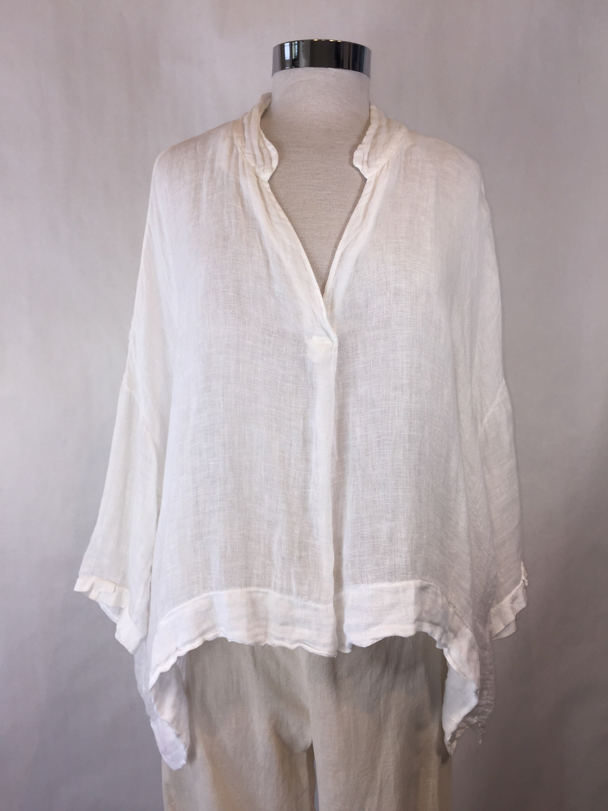 50% OFF - Linen Boxy Top