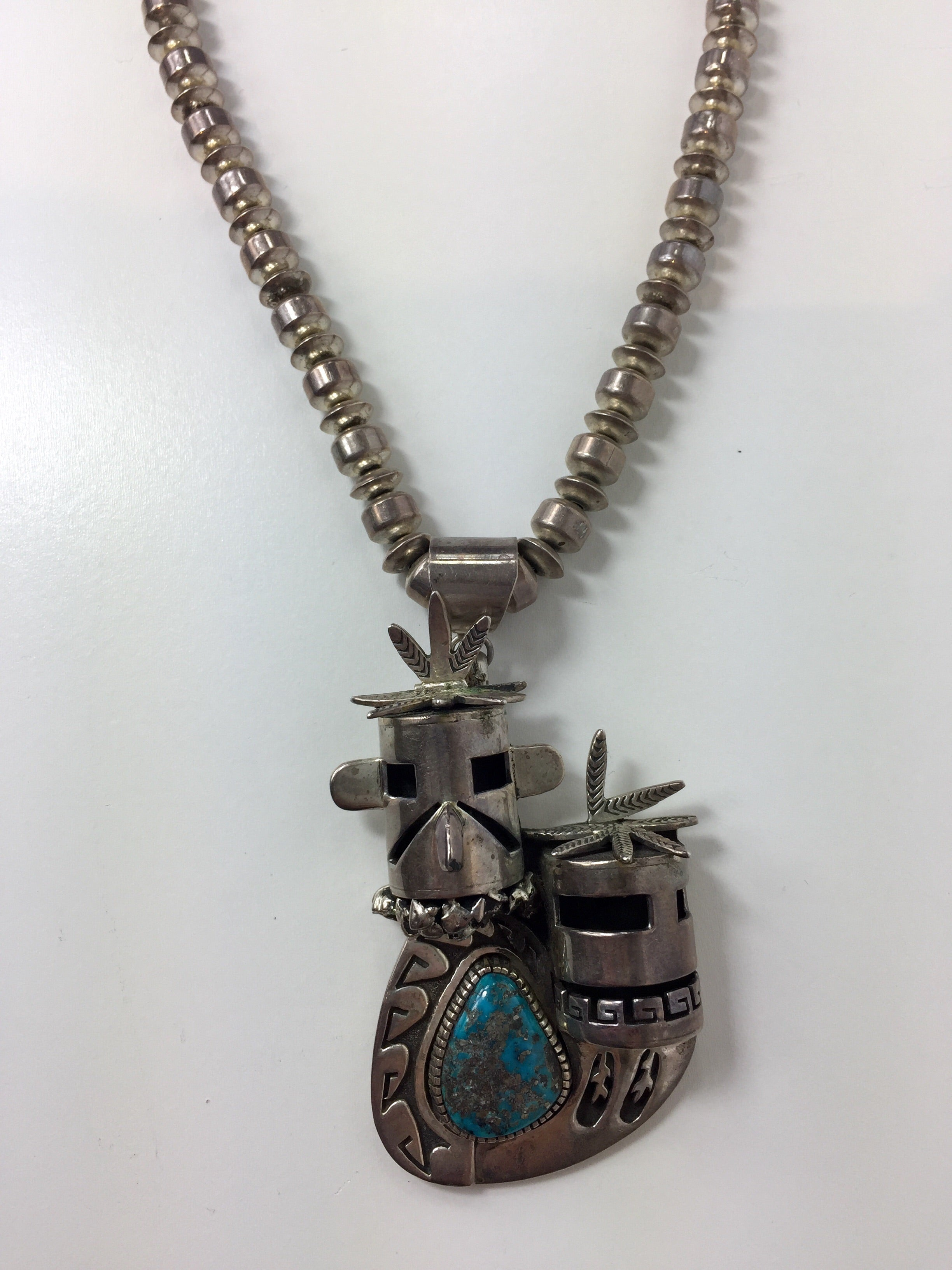 Navajo Signed Kachina Necklace