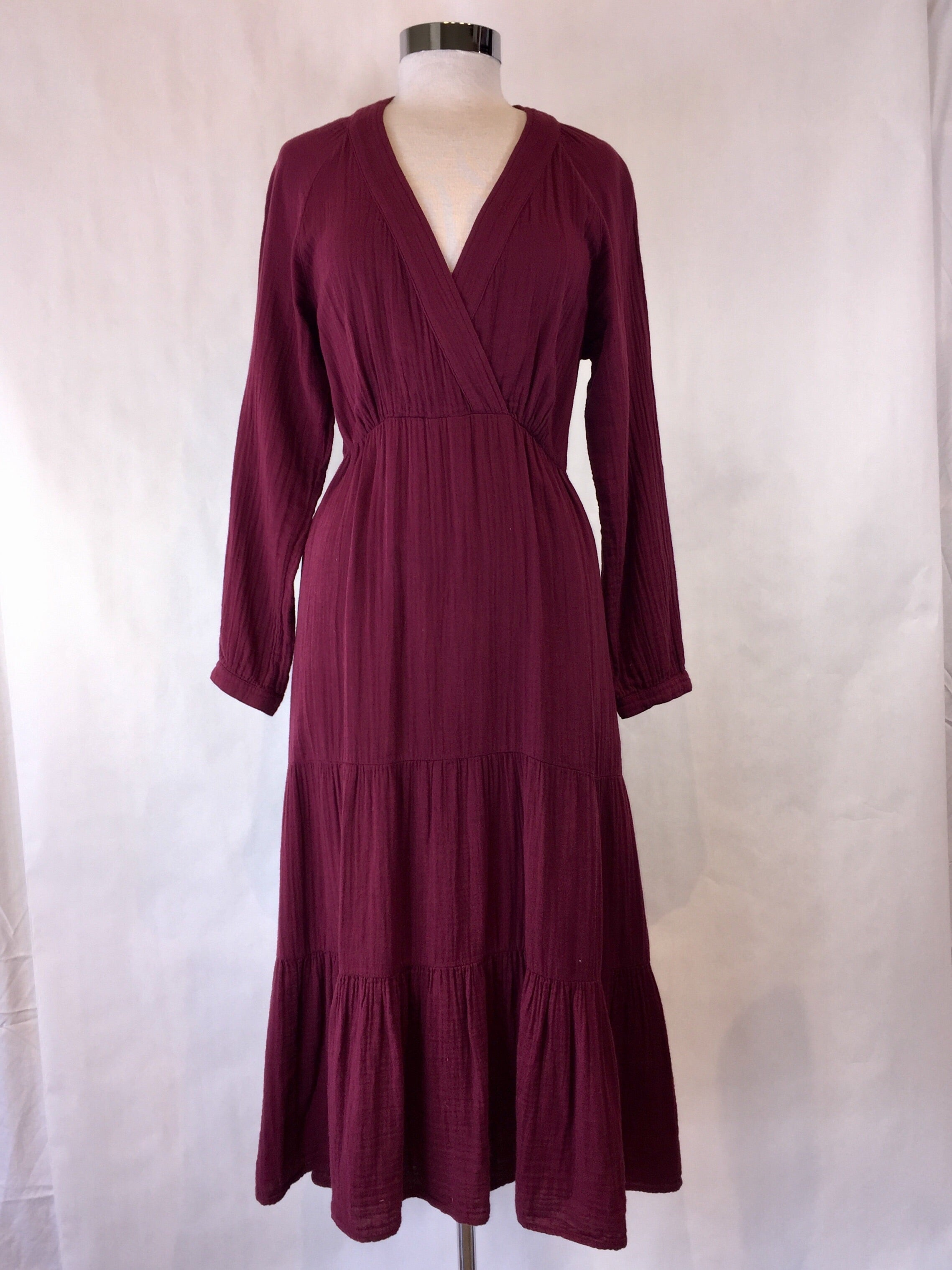 Burgundy Cotton Dress