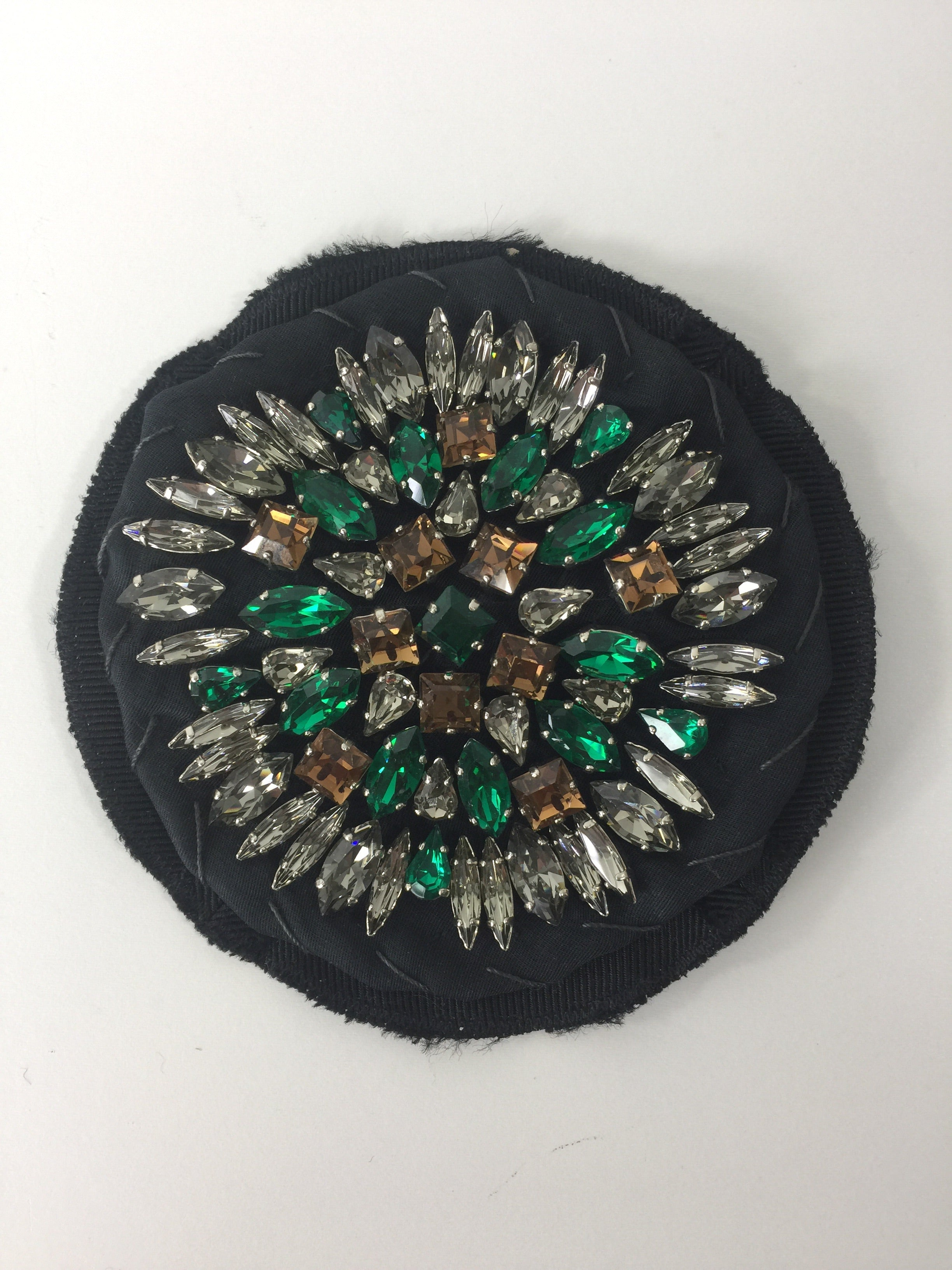 Rhinestone Circle Broach