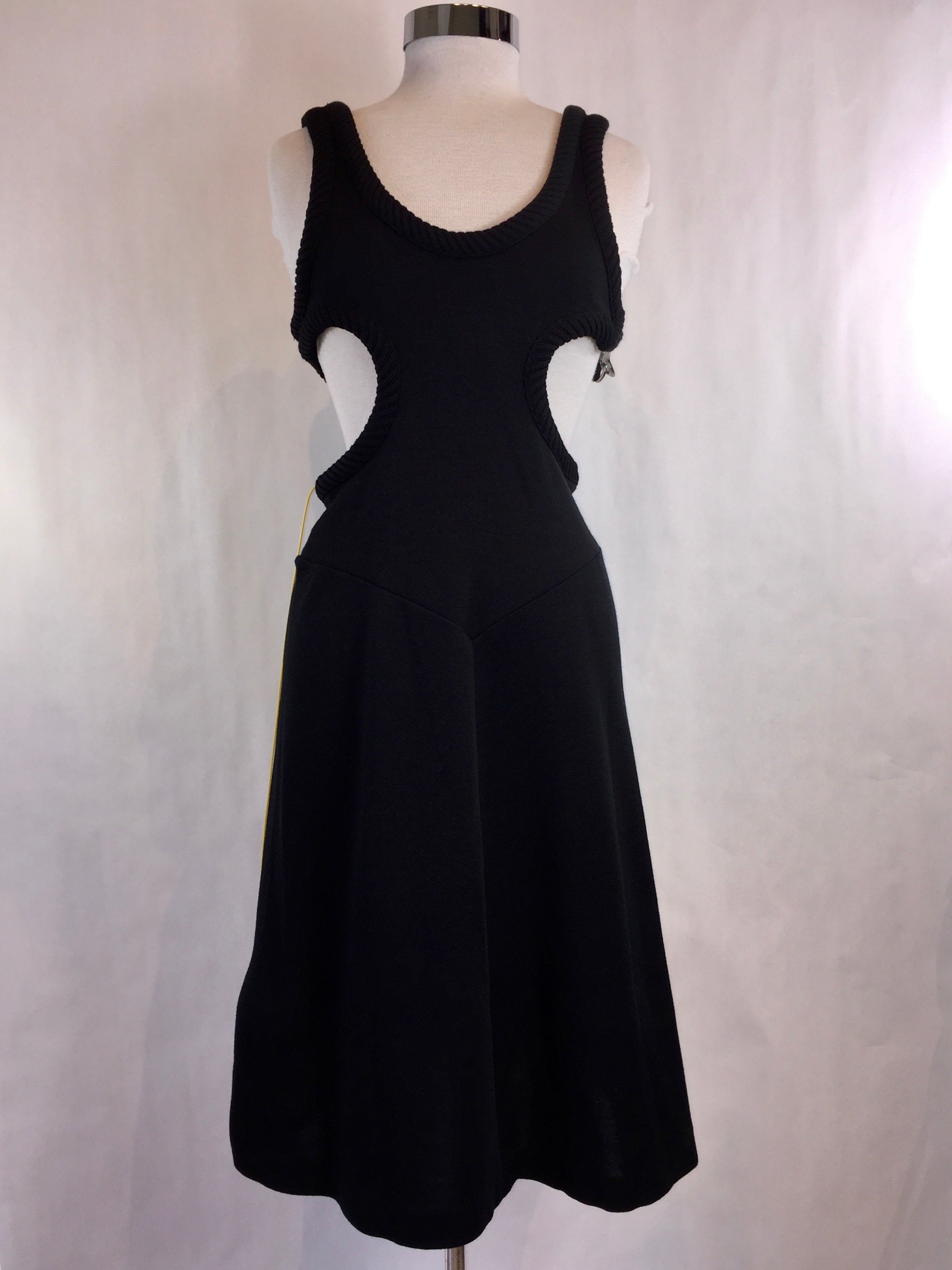 Black Fitted Cutout Dress