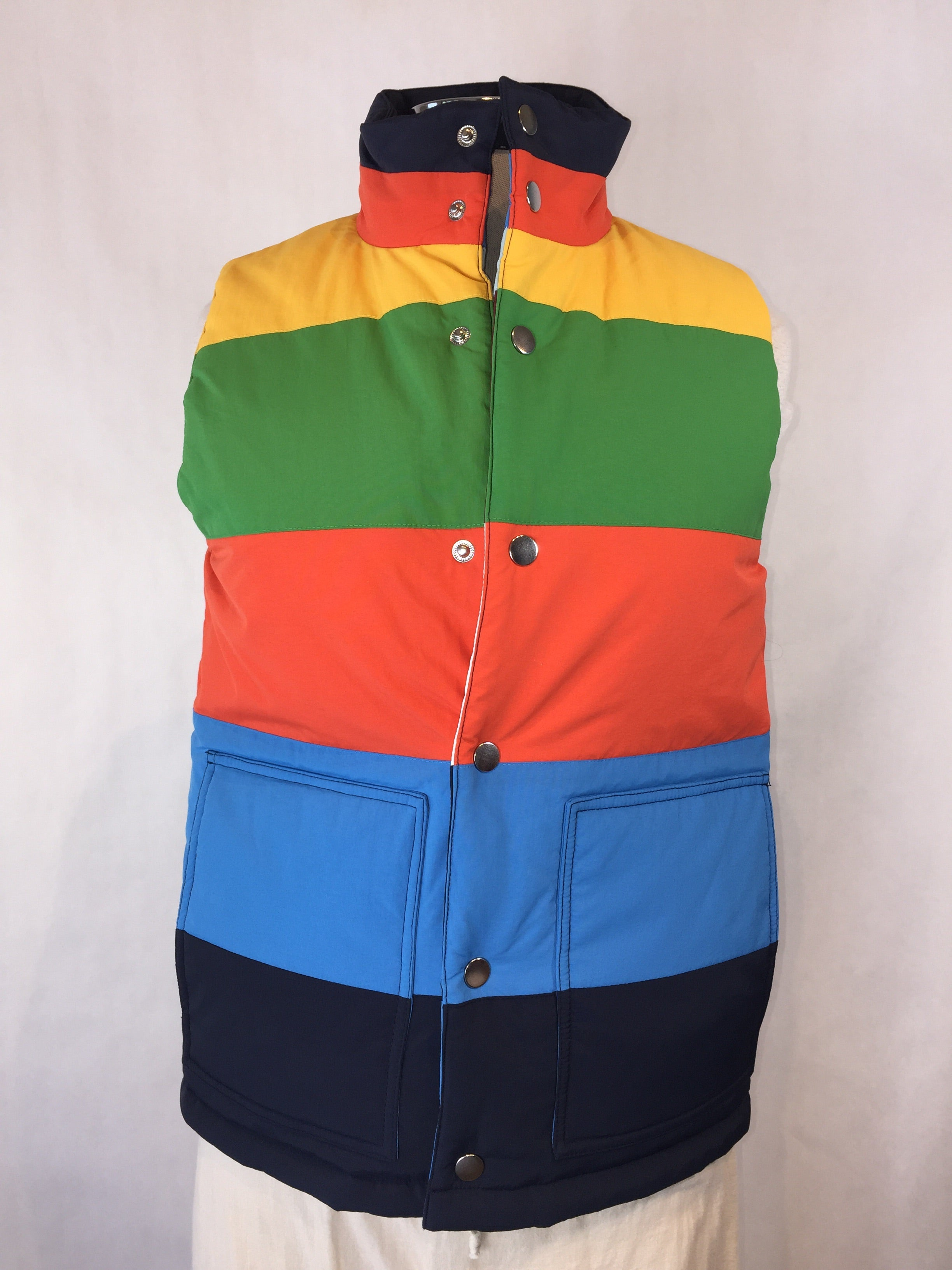 Striped Reversible Puffer Vest