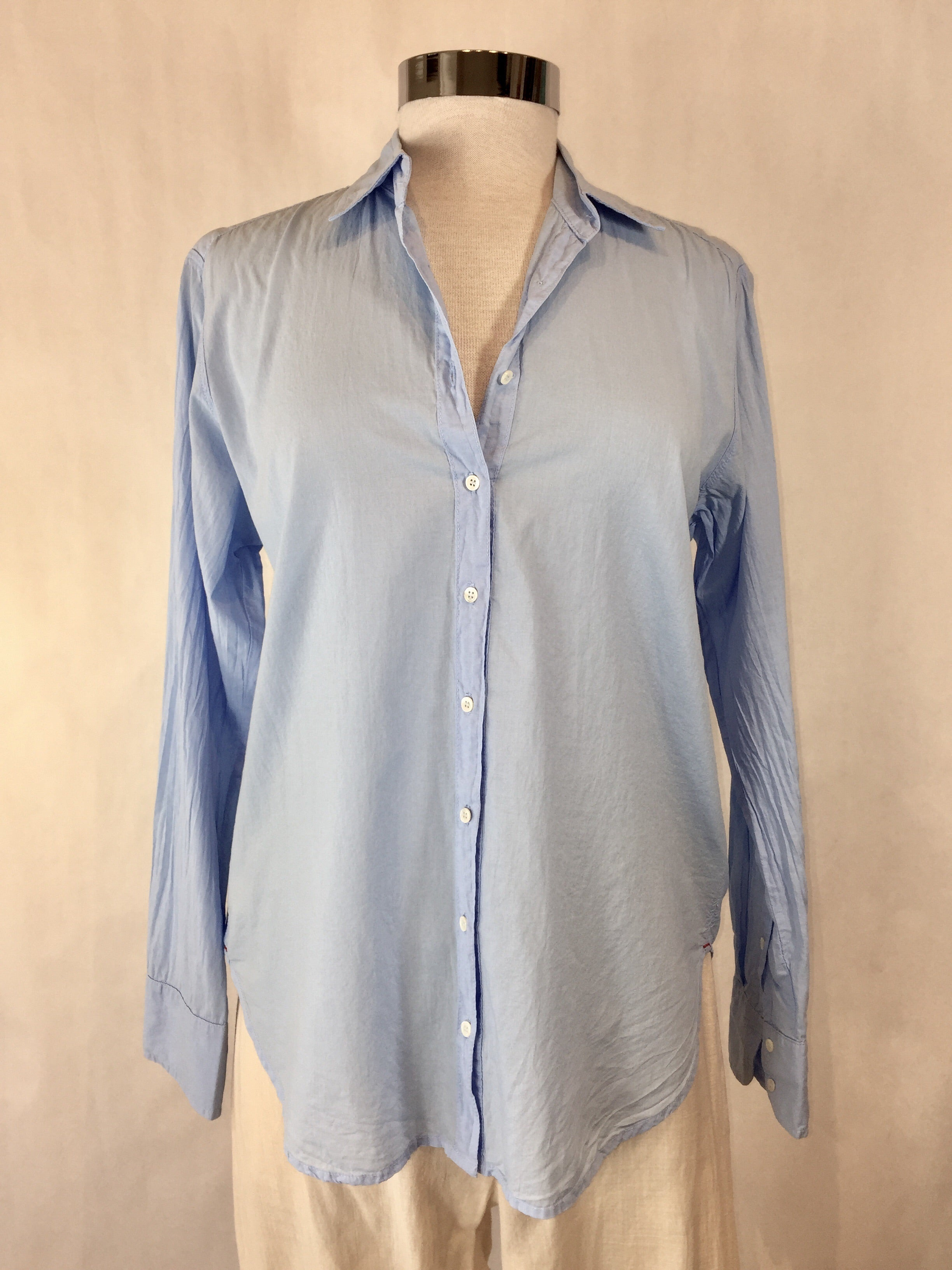 50% OFF - Light Blue Button Down Top