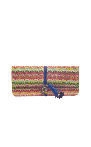 Jill Haber Straw Clutch - REDUCED