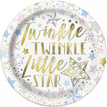 Load image into Gallery viewer, Twinkle Twinkle Little Star Baby Shower Tableware Pattern