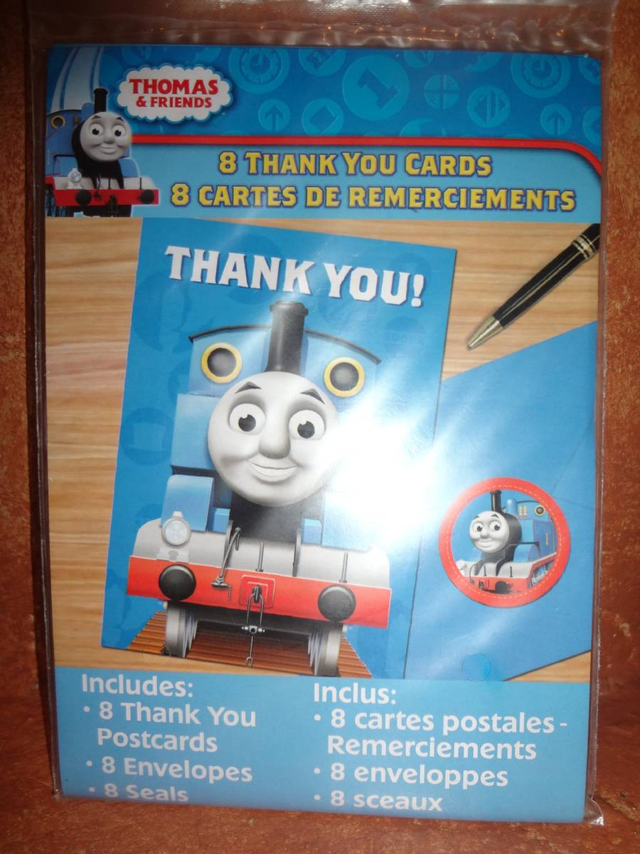 Thomas and Friends Thank You Cards