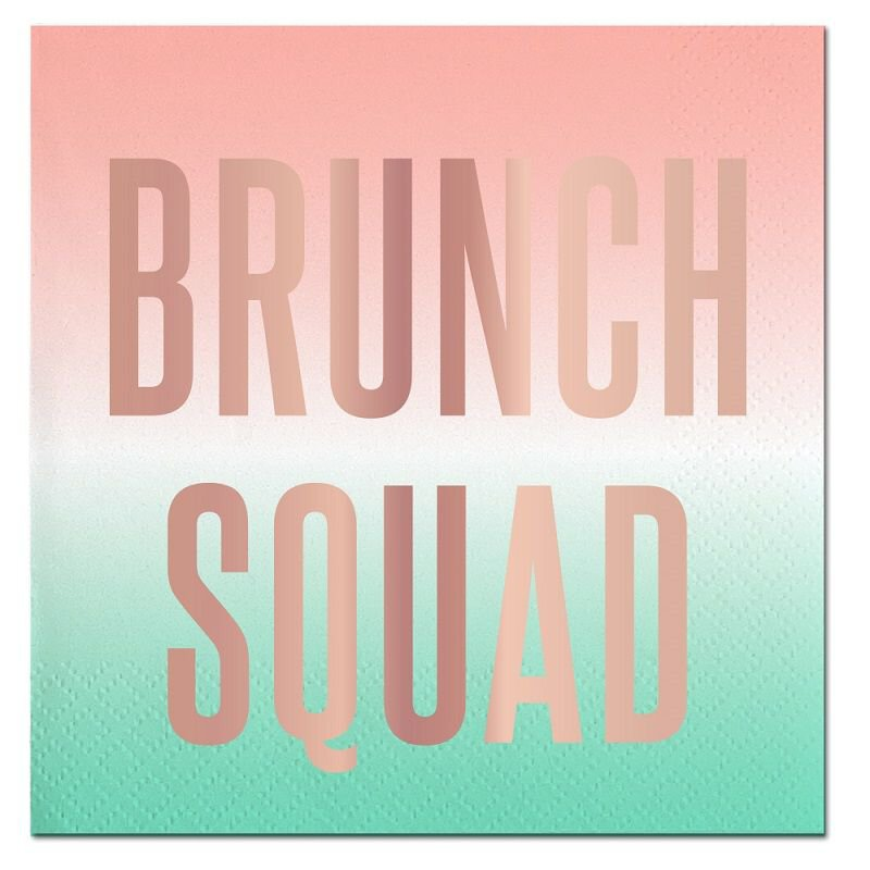 Brunch Squad Beverage Napkin