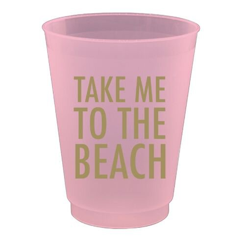 Take Me to the Beach Party Glass