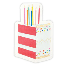 Load image into Gallery viewer, Birthday Cake Slice Shaped Napkins