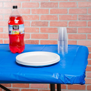 Stay-Put Rectangular Plastic Tablecover