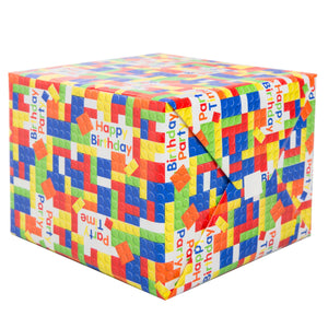 Building Blocks Birthday Wrapping Paper