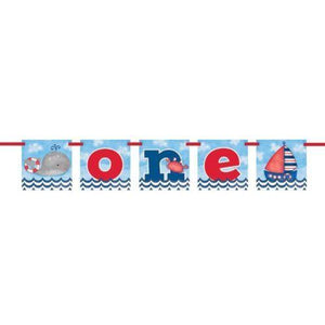 Nautical First Birthday Banner