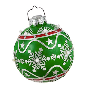 "12"" Battery Operated Ornament Outdoor Ornament, Green"