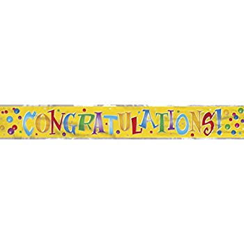 Colorful Congratulations Banner