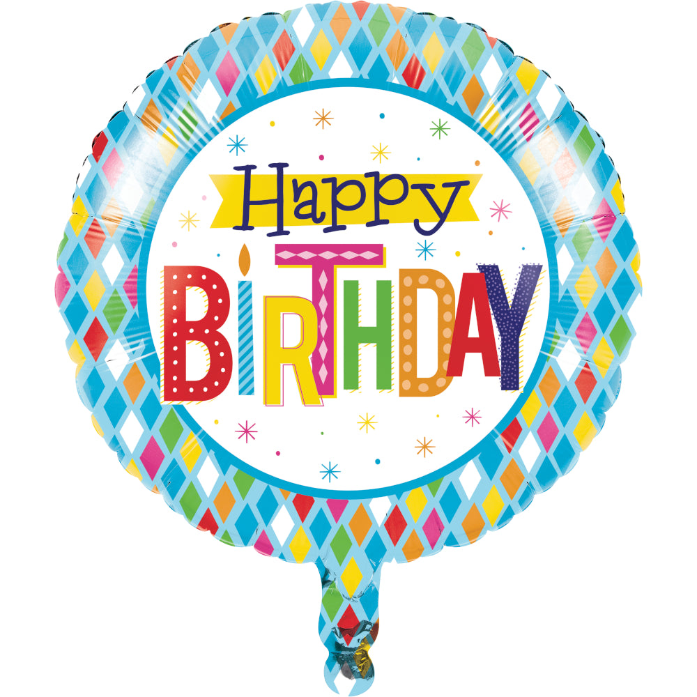 Bright Birthday Mylar Helium Balloon