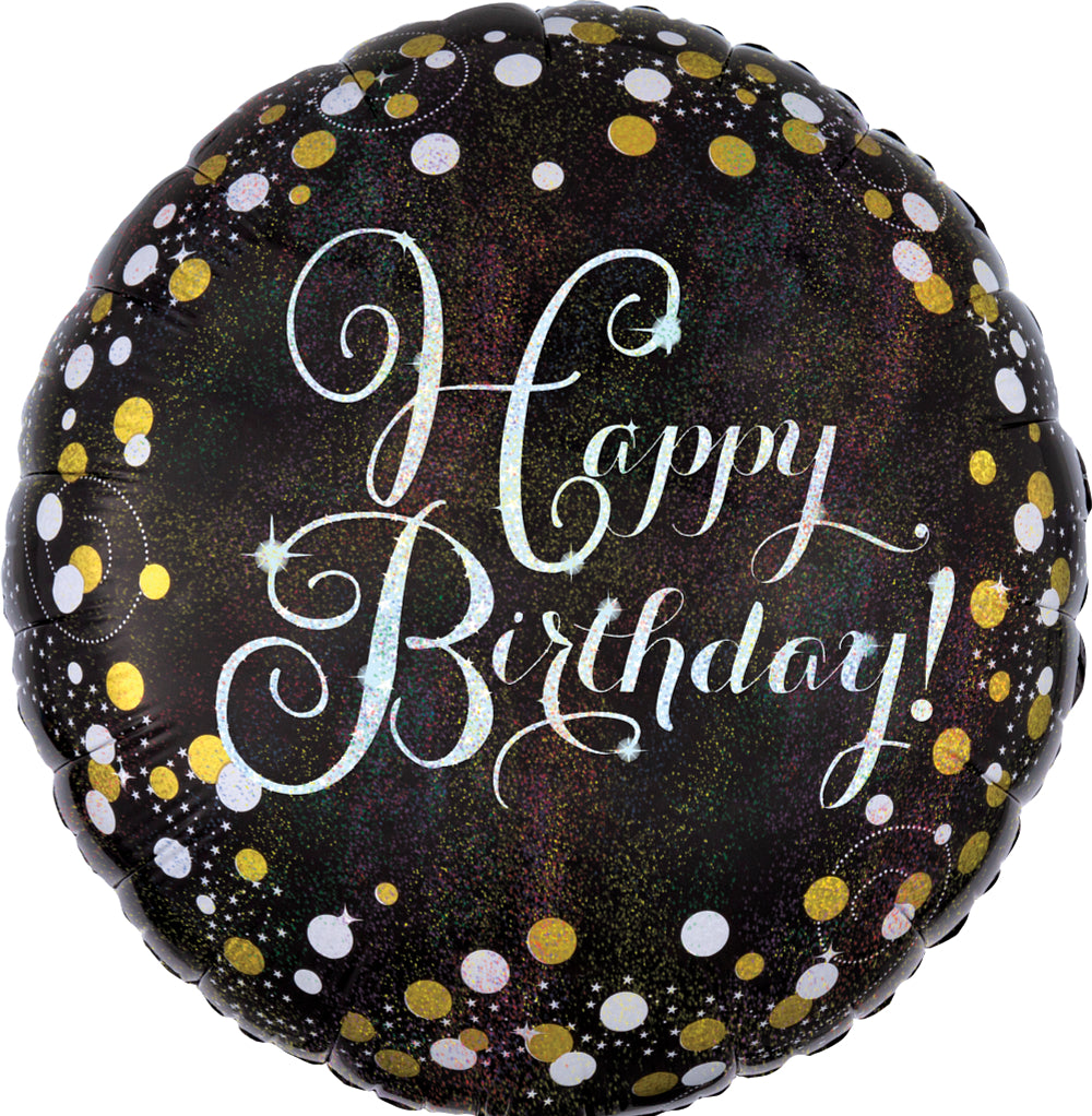 Sparkling Celebration Birthday Balloon + Milestones