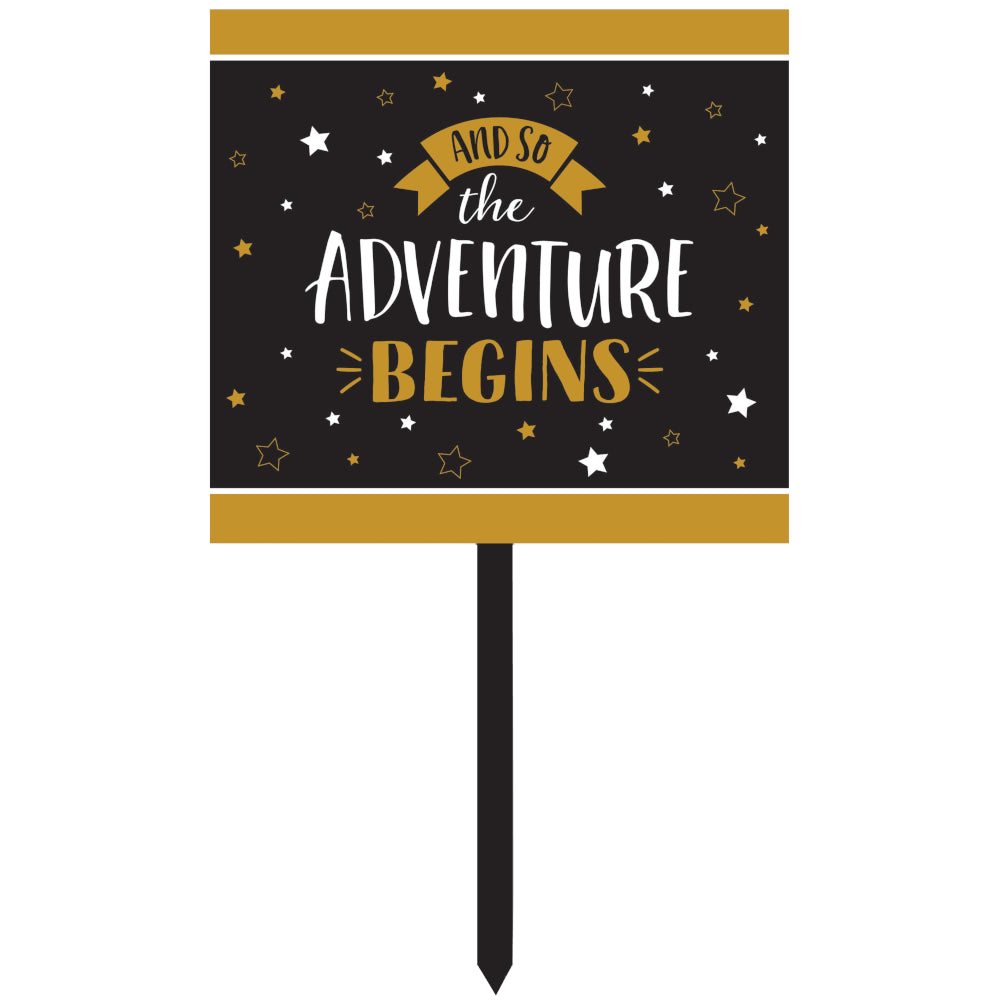 Grad Adventure Yard Sign