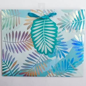 Gift Bag - Metallic Leaves