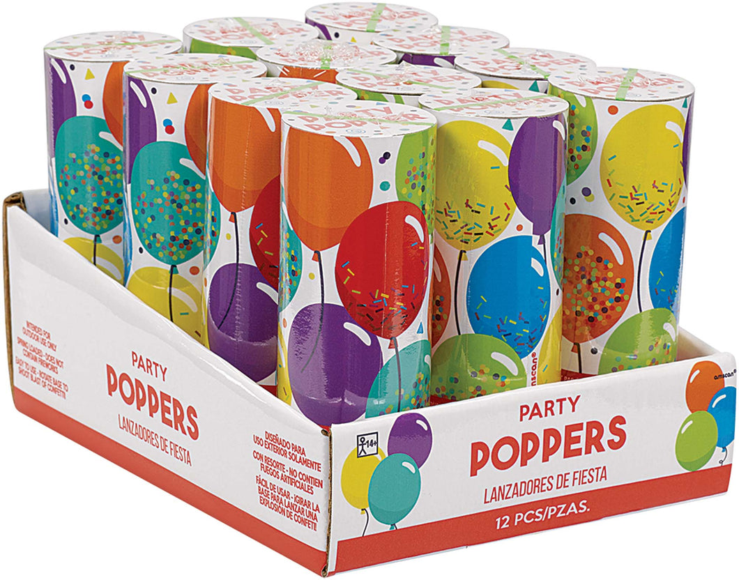 Confetti Party Poppers 12pc