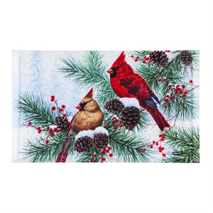 Tis the season Cardinals Embossed floor mat