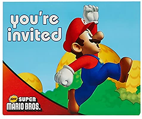 Super Mario Bros Invitations