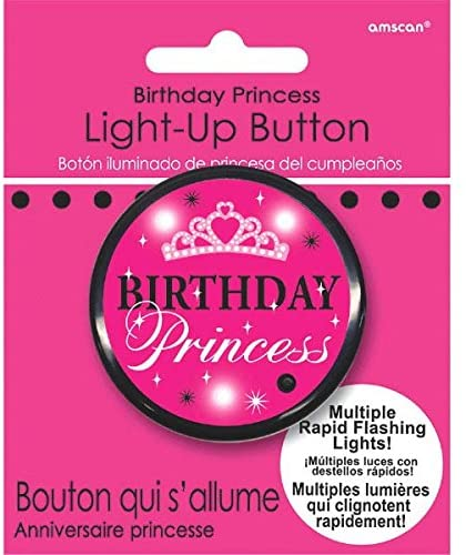 Birthday Princess Light Up Button