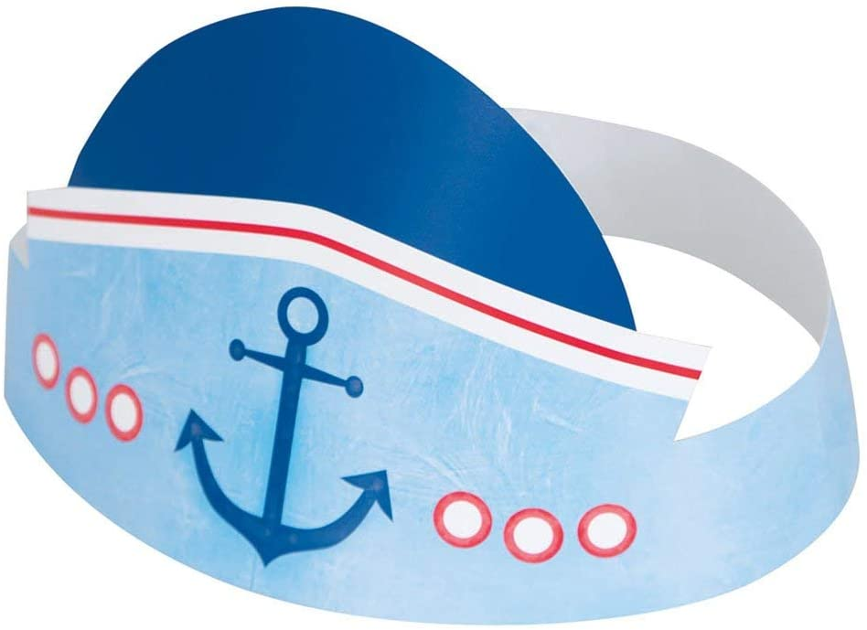 Nautical First Birthday Hats
