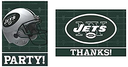 New York Jets Invitations and Thank You Postcards