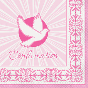 Confirmation Pink - Paper Lunch Napkins 16 ct.
