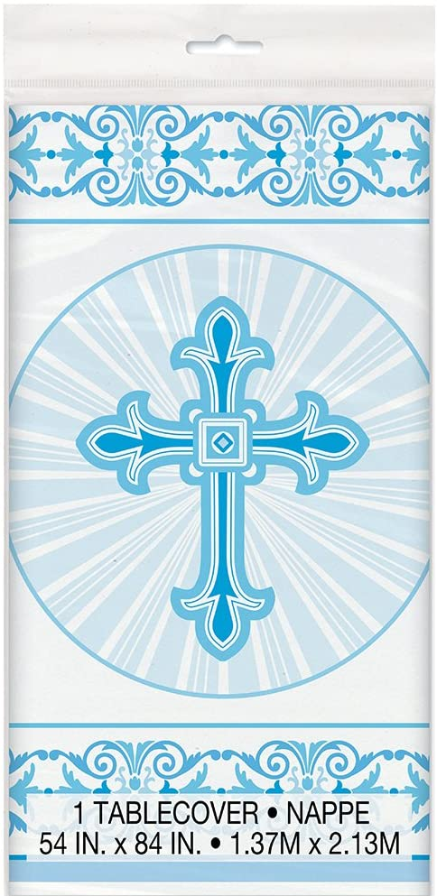 Religious Blue - Plastic Tablecover