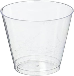 9 oz Clear Plastic Tumblers Value Pack