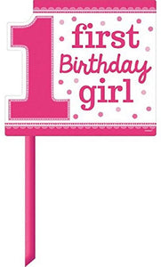 First Birthday Girl Lawn Sign