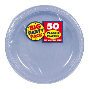 Party Pack Plastic Dessert Plates 50ct