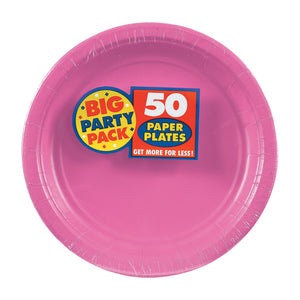 Party Pack Paper Dessert Plates 50ct