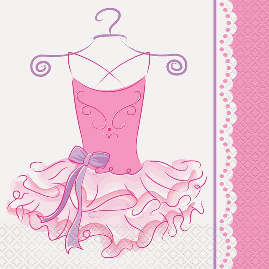 Ballerina Theme Lunch Napkins