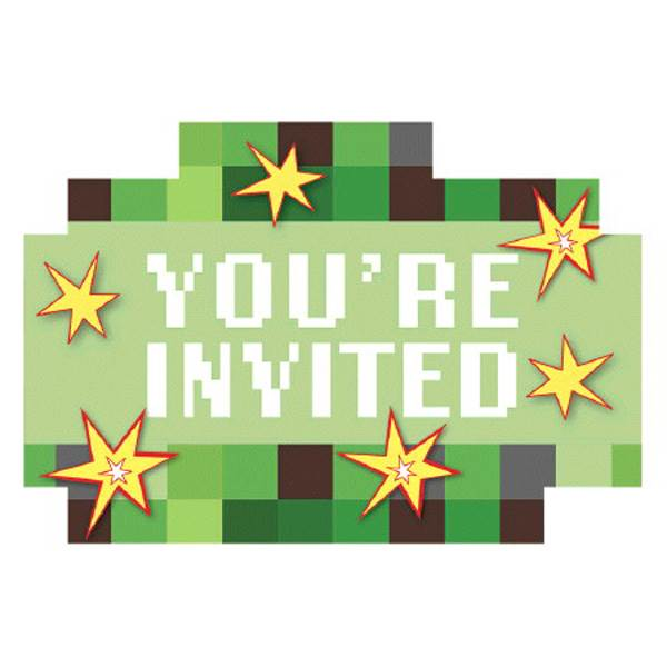 TNT Party Invitations, 8 ct.