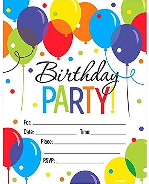 Birthday Invitations 50 ct