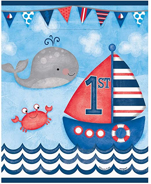Nautical First Birthday Loot Bags