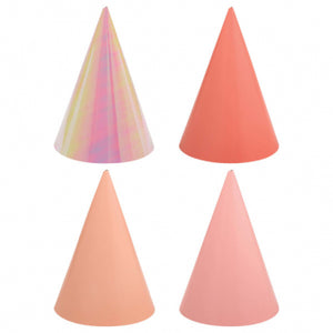 Birthday Pink Cone Hats